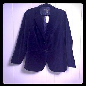 Lane Bryant Purple Velvet Blazer Jacket 18 NWT